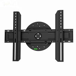 Black Full-Rotation Fixed/Flat Wall Mount Bracket for Elemen