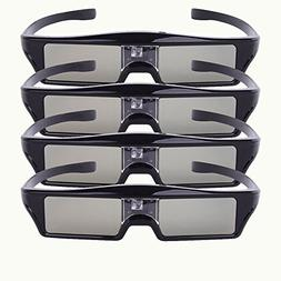 Bluetooth RF Active Shutter Type 3D Glasses Chargeable for E