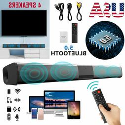 Bluetooth Sound Bar Wired Wireless Bass Subwoofer Home Theat