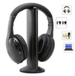 Bluetooth Wireless TV Headset 5In1 MP3 PC Stereo Headphones
