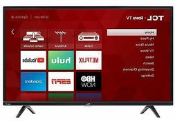 BRAND NEW TCL 43 INCH 4K SMART  LED ROKU TV  W/ REMOTE  AND