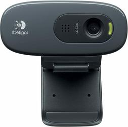 Logitech C270 HD Computer Webcam Drive-Free with Microphone