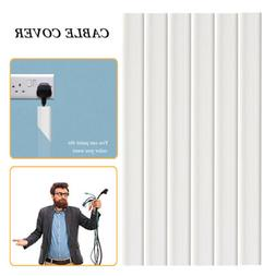 Cable Concealer On-Wall Cord Cover Raceway Kit - Cable Manag
