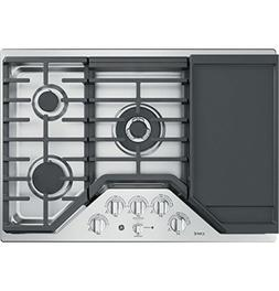 GE Cafe CGP9530SLSS 30 Inch Natural Gas Sealed Burner Style