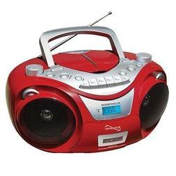 Supersonic CD MP3 Bluetooth AM FM Boombox Silver