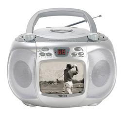 "Coby CD-TV152 Portable 5"" Black & White TV / CD / AM / FM"