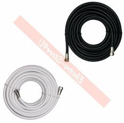 Coaxial Digital Cable 25ft 50ft 100ft Satellite TV Antenna C