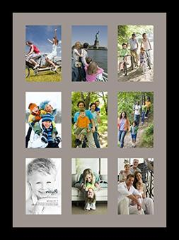 ArtToFrames Collage Photo Frame Single Mat with 9-4x6 Openin