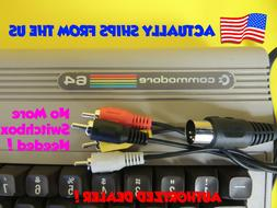 Composite Video & Audio TV DIN Cable for Commodore 64 C64 C-