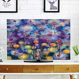 Leighhome Cover for Wall Mount tv Flower Garden Scenery Gene