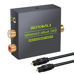 LiNKFOR Digital to Analog Audio Converter DAC Converter Digi