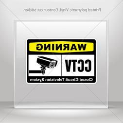 Decal Warning Cctv Video Surveillance Closed-Circuit Televis