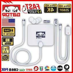 Digital TV Antenna HD 4K 1080p Indoor Amplifier UHF VHF 980