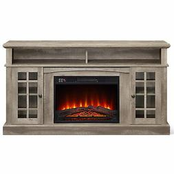 """Fireplace TV Stand Console Media Shelves For TVs up to 65"""""""