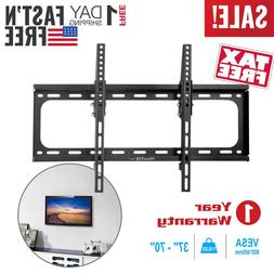 "Flat TV Wall Mount Bracket 15° Tilt Swivel For 27""32""37""42"""