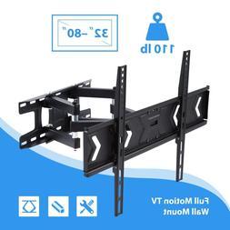Full Motion HDTV TV Wall Mount Bracket 32 36 40 42 47 50 52