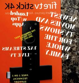 🔥FULLY LOADED🔥2020 Fire TV 4K Stick Alexa Voice Remote