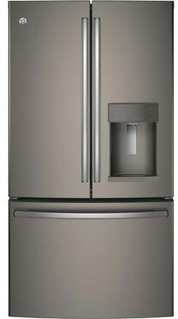GE GFD28GMLES 36 Inch French Door Refrigerator with 27.8 cu.