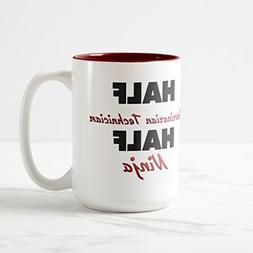 Zazzle Half Veterinarian Technician Half Ninja Coffee Mug, M