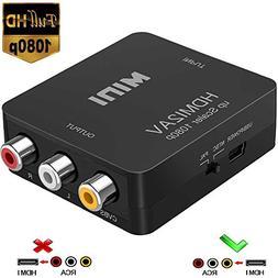 HDMI to RCA, 1080p HDMI to AV 3RCA CVBs Composite Video Audi