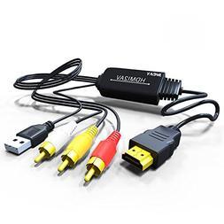 Jmday HDMI to Composite AV 3 RCA CVBS Video Audio Converter
