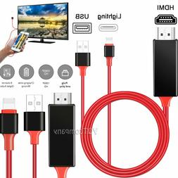 HDMI Mirroring Cable Phone to TV HDTV Adapter For iPhone 11