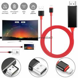 HDMI Mirroring Cable Phone to TV HDTV Adapter For iPhone Xs