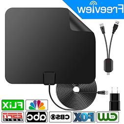 HDTV Antenna, 2018 New Version 75 Miles Range 4K HD VHF UHF