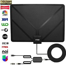 HDTV Antenna,HD Digital TV Antenna Amplified 80 Miles Range