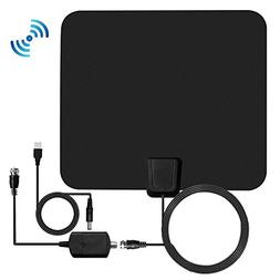 HDTV Antenna, 1080P Transparent TV Antenna Indoor with 50 Mi