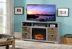 Homestar ZK1ANNISTN Anniston Media Fireplace in Grey Painted