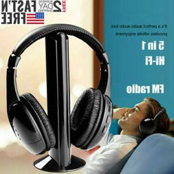 Hot 5 in 1 Headset Wireless Headphones Cordless RF Mic for P
