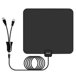 Pacoso Indoor Amplified HD TV Antenna 65-80 Miles Range - Su