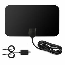 Indoor Thin Flat HD TV Signal Amplified HDTV Transparent Ant