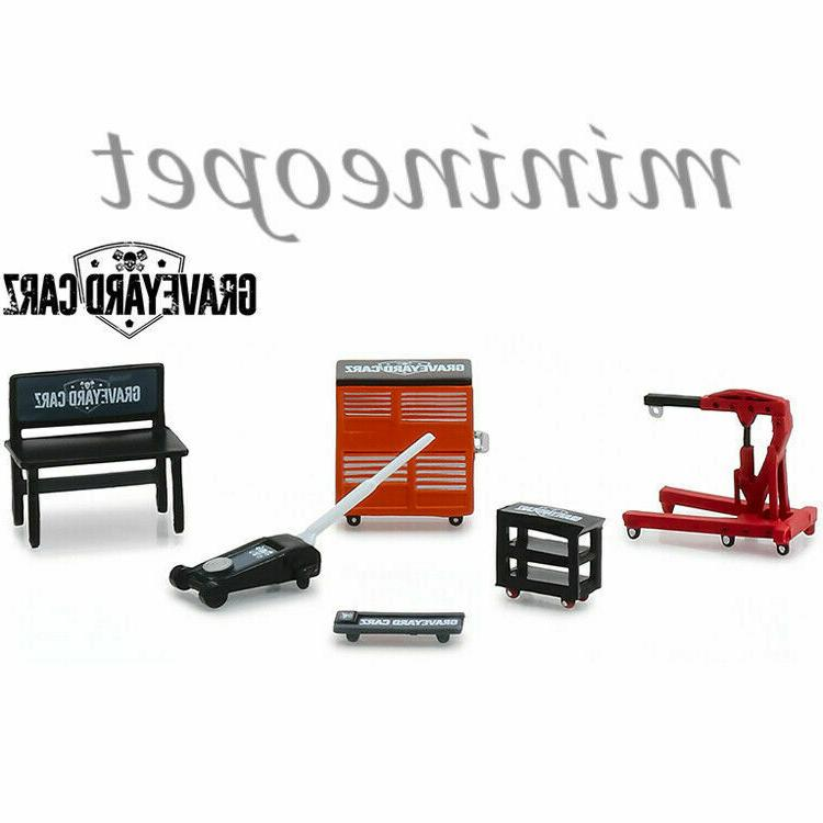GREENLIGHT 13174 GRAVEYARD CARZ TV SHOW SHOP TOOLS SET ACCES