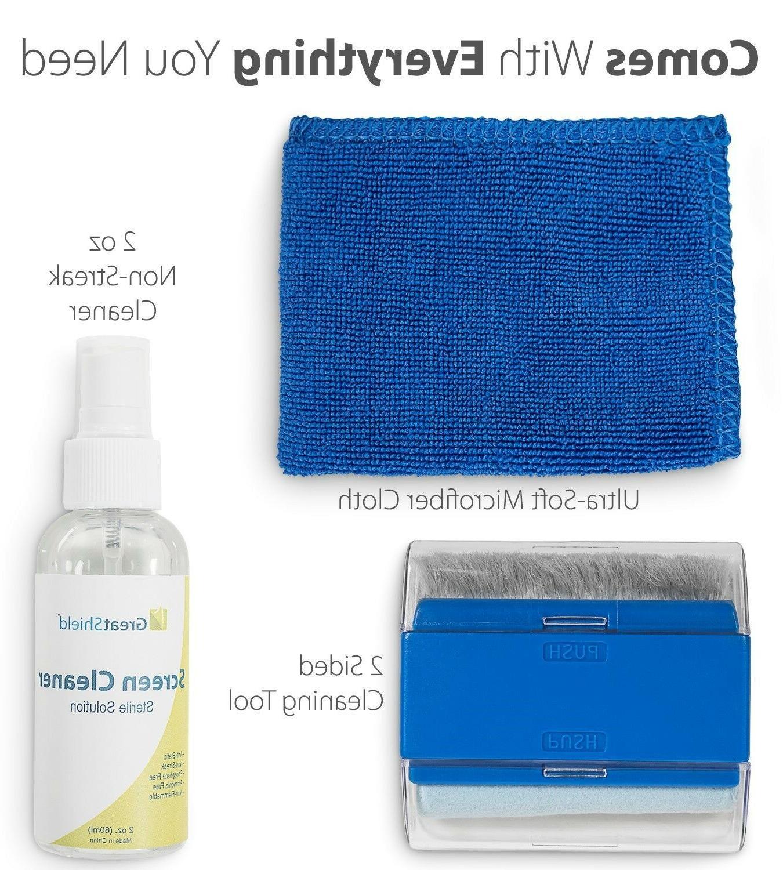 2x Kit Cleaner Spray Brush Cloth Wipe LED TV Camera
