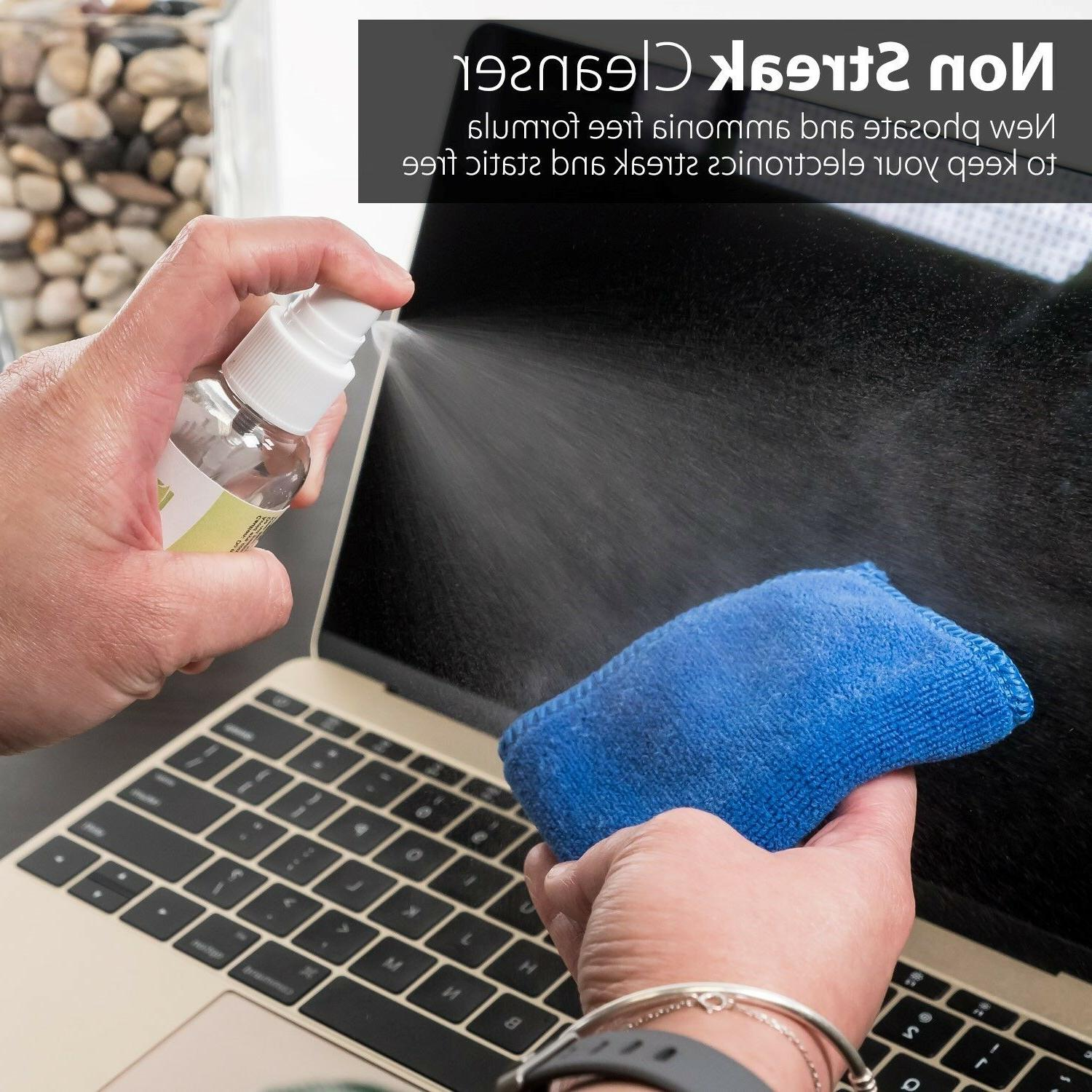 2x Screen Cleaning Kit Cleaner Brush Cloth LED Camera
