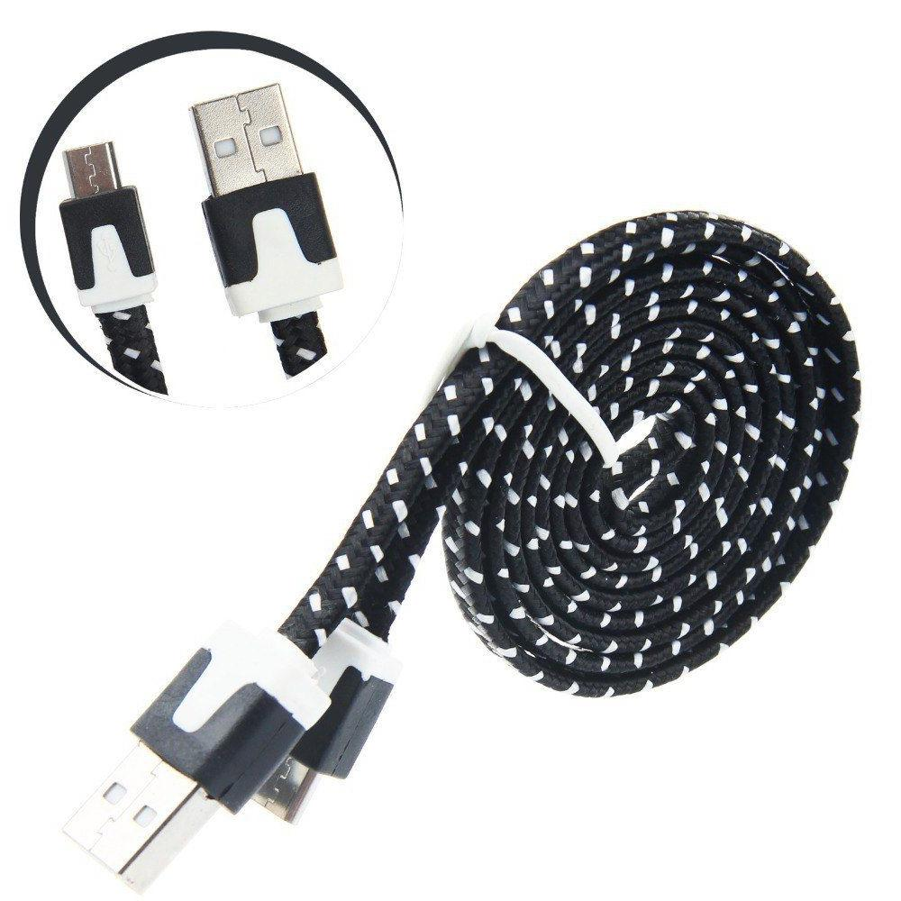 Fast Micro Cable Cord Charger BLACK