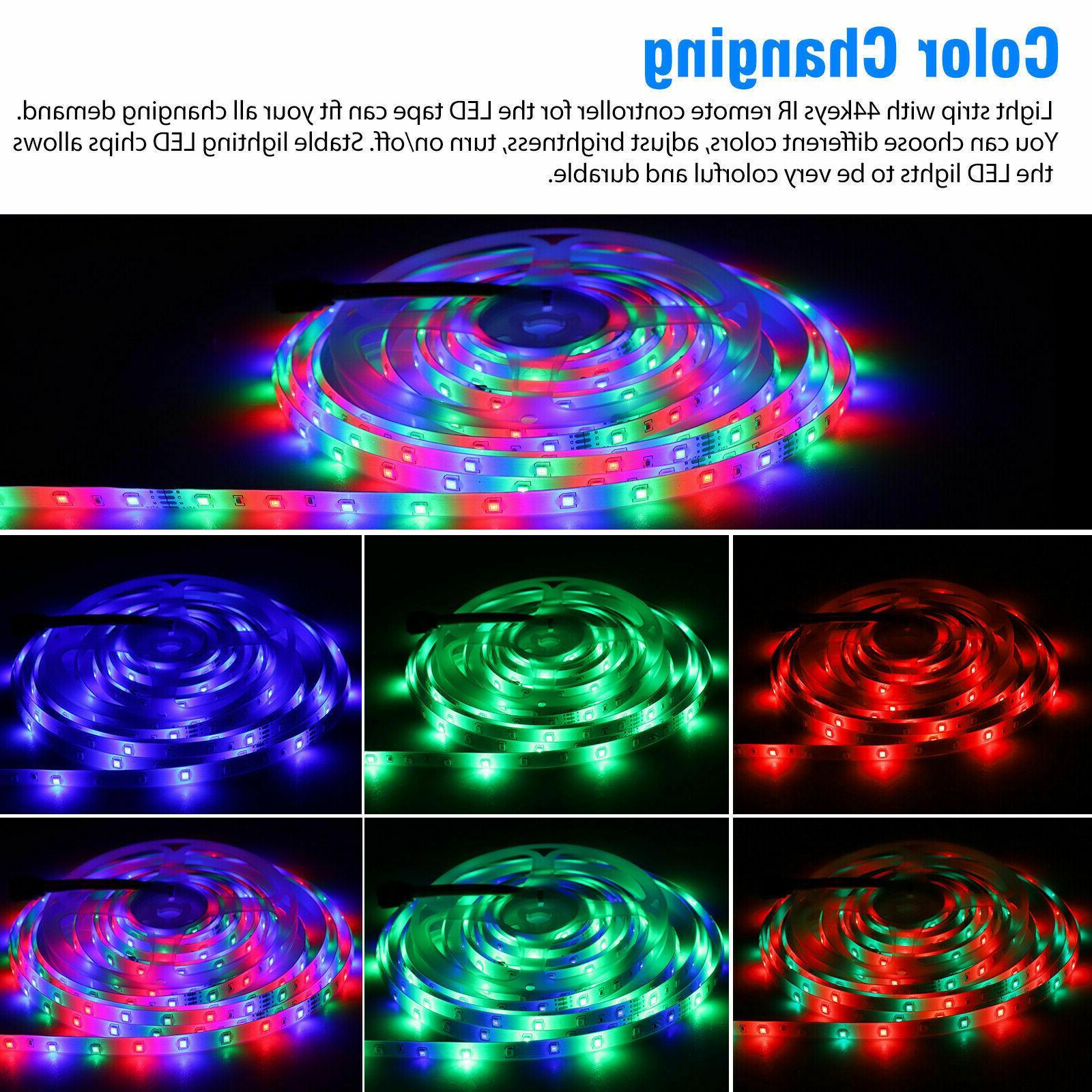 32FT 3528 LED Strip Light Remote Lights Room TV Party