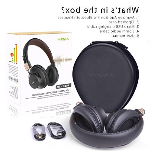 Avantree 40 Bluetooth 4.1 Headphones with APTX Fast Audio for Computer Phone, with Wired mode - Audition Pro