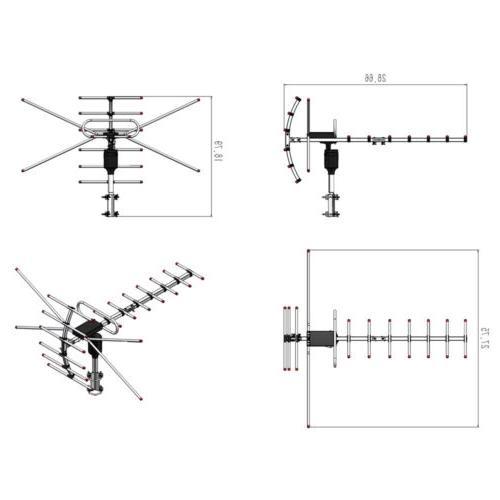 Amplified Directional UHF/VHF UV