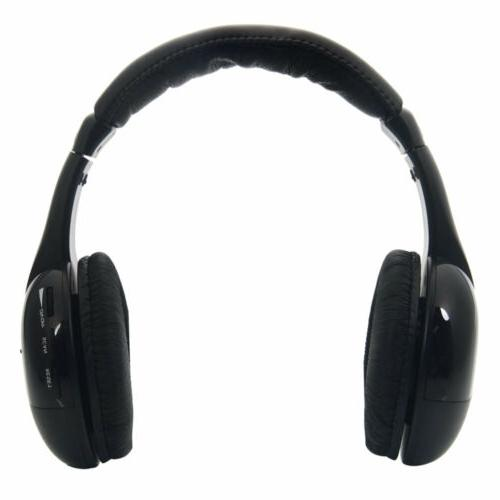 5 Wireless Headphones Cordless Headset Earphones For TV DVD PC