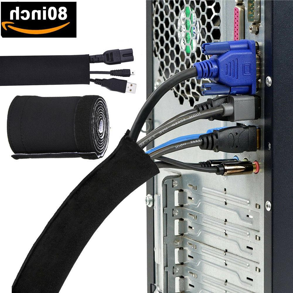 80 inch cable management organizer tv cord