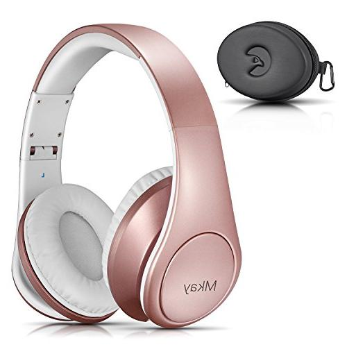 Bluetooth Headphones Over Ear, Mkay Wireless Stereo Headset