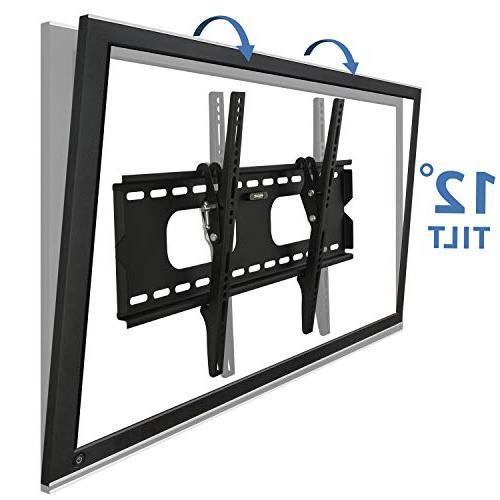 Mount-It Tilting TV Wall Bracket 32-60 OLED, Flat Screen 175 Capacity, Inch Profile, Max 600x400 , Black, 60