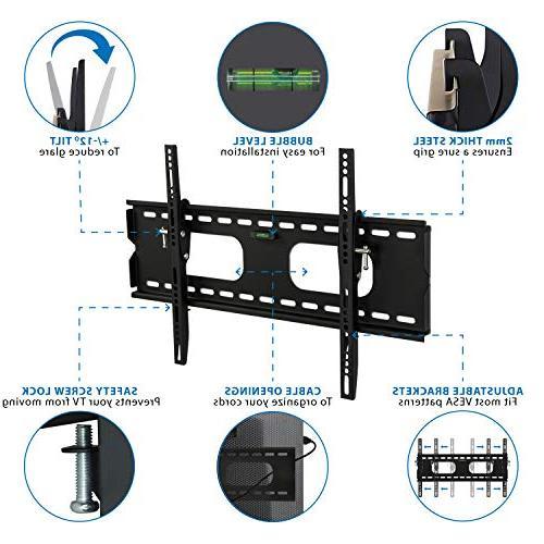 Mount-It Low-Profile Wall Bracket 32-60 OLED, Flat Screen TVs - 175 Capacity, 1.5 600x400 60