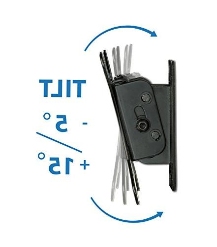 Mount-It! Tilt Mount 1.7 Low-Profile with Quick Release Function, and VESA Compliant, Steel Fits Carrying Capacity, Black