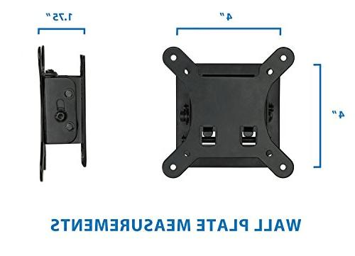 Mount-It! Mount Bracket 1.7 Low-Profile Design with Quick Release Function, and VESA 100 Compliant, Steel Fits Inch Lbs Carrying Capacity, Black