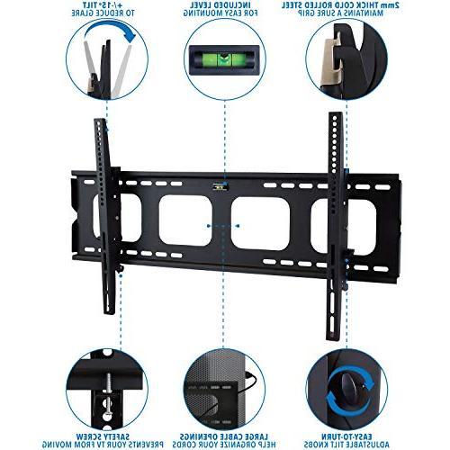 Mount-It! TV Mount Sony LG TCL VESA 200x200 600x400 Compatible Premium Tilt Capacity, Size
