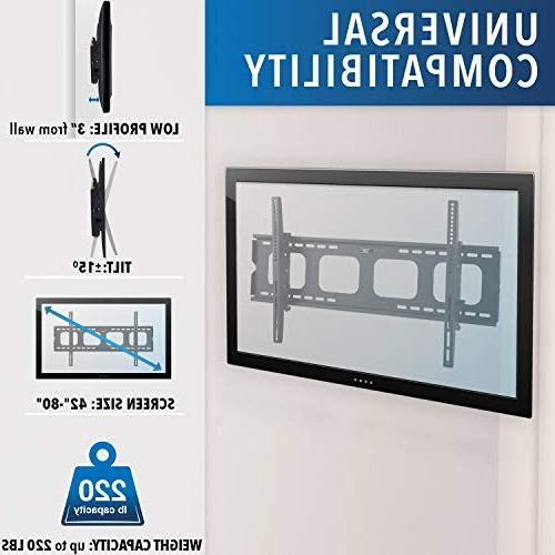 Mount-It! Wall Sony LG TCL 200x200 600x400 850x450 Compatible Size inch